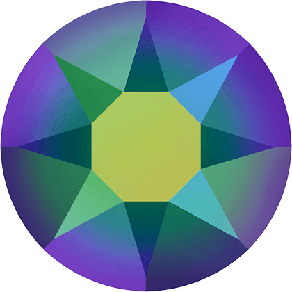 Swarovski 2078 - XIRIUS Rose, Hotfix, Crystal Scarabaeus Green