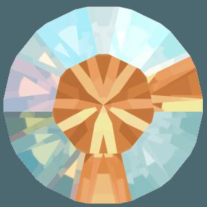 Swarovski 1028 - Xilion Chaton, Light Colorado Topaz Shimmer