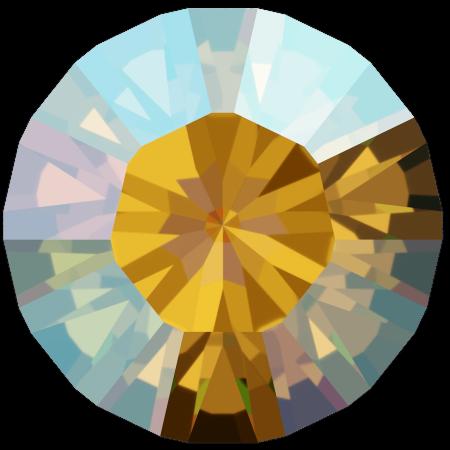 Swarovski 1028 - Xilion Chaton, Light Topaz Shimmer