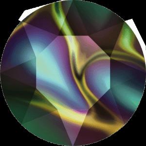 Swarovski 1088 - XIRIUS Chaton, Crystal Rainbow Dark