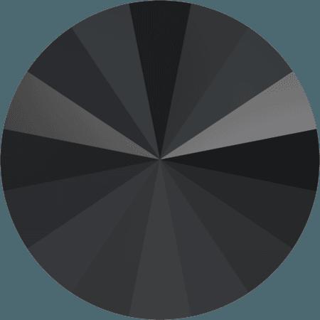Swarovski 1122 – Rivoli Chaton, Jet