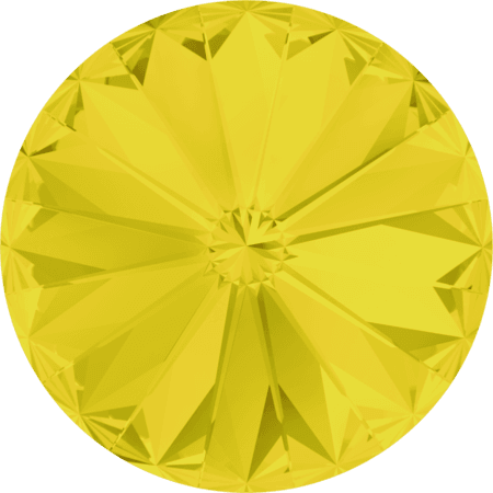 Swarovski 1122 - Rivoli Chaton, Yellow Opal