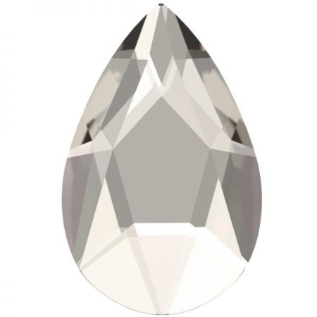 Swarovski 2303 - Pear Flat, Crystal Silver Shade