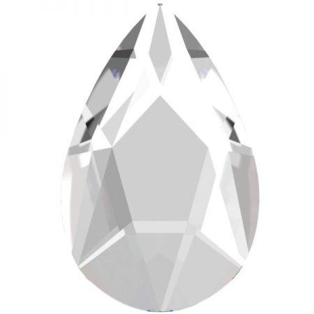 Swarovski 2303 - Pear Flat, Crystal