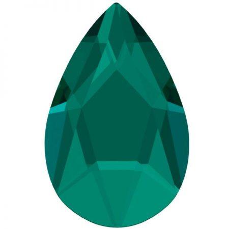 Swarovski 2303 - Pear Flat, Emerald