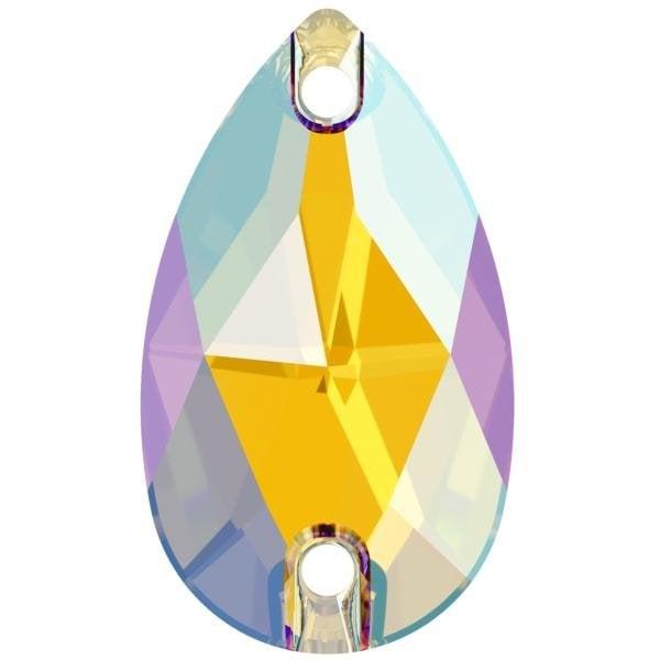 Swarovski 3230 - Drop, Light Topaz Shimmer