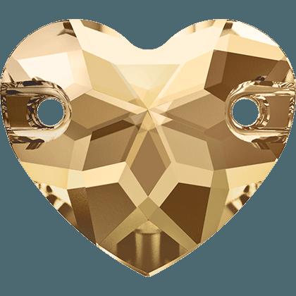 Swarovski 3259 - Heart, Crystal Golden Shadow