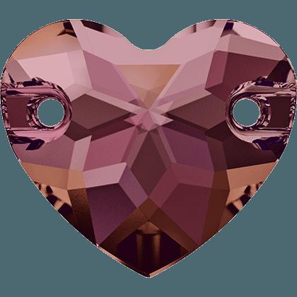 Swarovski 3259 - Heart, Crystal Lilac Shadow