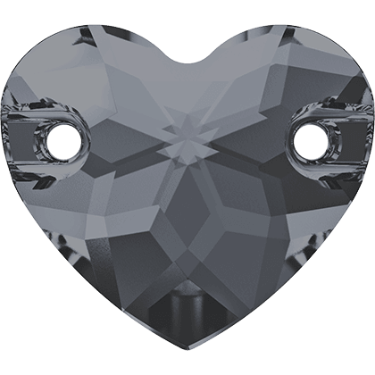 Swarovski 3259 - Heart, Crystal Silver Night