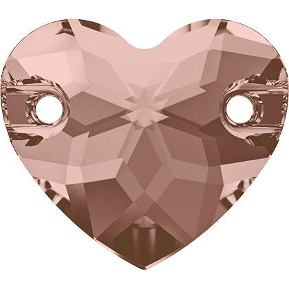 Swarovski 3259 - Heart, Vintage Rose