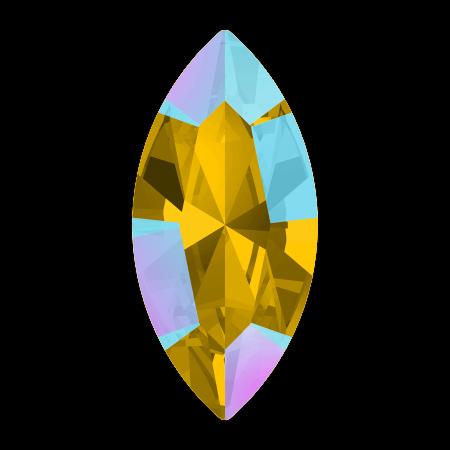 Swarovski 4228 - XILION Navette, Light Topaz Shimmer
