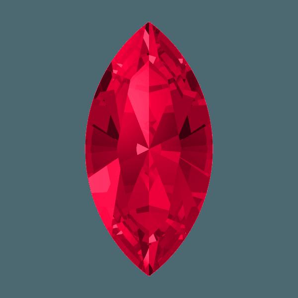 Swarovski 4228 - XILION Navette, Scarlet