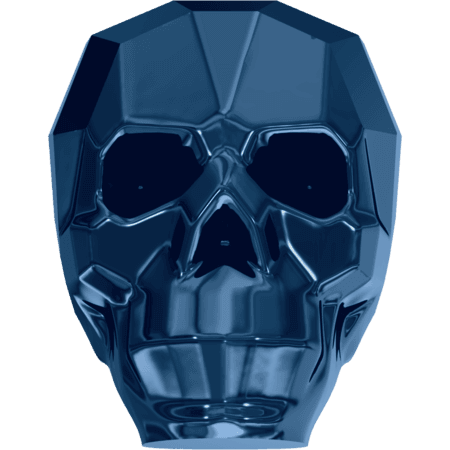 Swarovski 5750 - Skull, CR Metallic Blue 2x