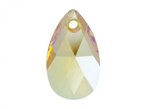 Swarovski 6106 - Pear-shaped, Light Topaz Shimmer