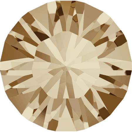 Swarovski 1028 – Xilion Chaton, Crystal Golden Shadow
