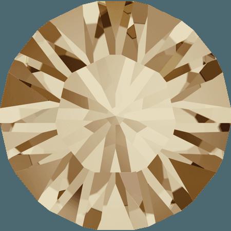 Swarovski 1028 – Xilion Chaton, Crystal Golden Shadow