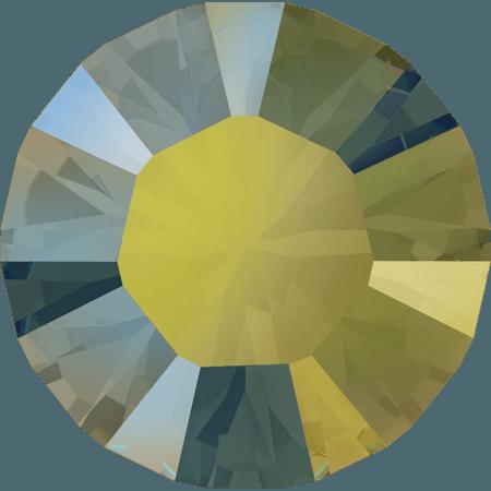 Swarovski 1028 – Xilion Chaton, Crystal Iridescent Green
