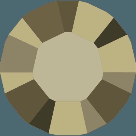 Swarovski 1028 – Xilion Chaton, Crystal Metallic Light Gold