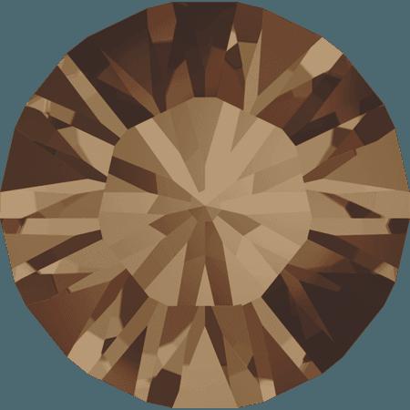Swarovski 1028 – Xilion Chaton, Light Smoked Topaz