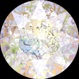 Swarovski 1088 - XIRIUS Chaton, Crystal White Patina