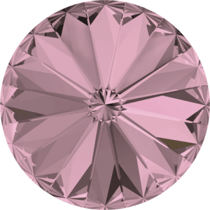 Swarovski 1122 – Rivoli Chaton, Crystal Antique Pink