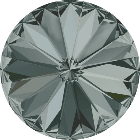 Swarovski 1122 – Rivoli Chaton, Black Diamond