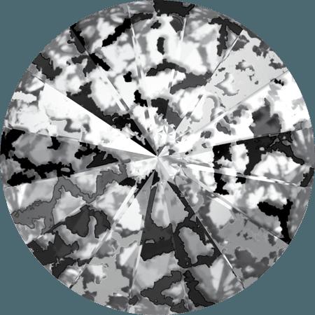 Swarovski 1122 – Rivoli Chaton, Crystal Black Patina