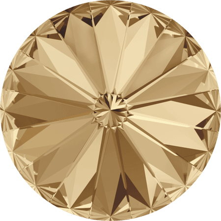 Swarovski 1122 – Rivoli Chaton, Crystal Golden Shadow
