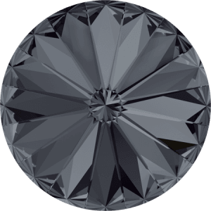 Swarovski 1122 – Rivoli Chaton, Crystal Silver Night