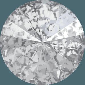 Swarovski 1122 – Rivoli Chaton, Crystal Silver Patina