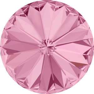 Swarovski 1122 – Rivoli Chaton, Light Rose