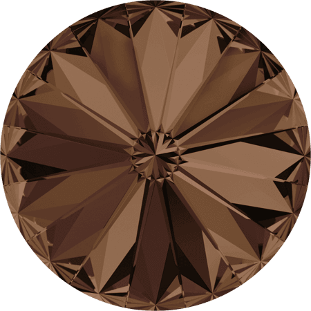Swarovski 1122 – Rivoli Chaton, Smoked Topaz