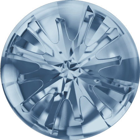 Swarovski 1695 – Sea Urchin partly frosted, Crystal Blue Shade