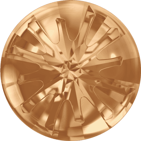 Swarovski 1695 – Sea Urchin partly frosted, Crystal Golden Shadow