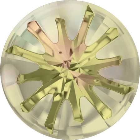 Swarovski 1695 – Sea Urchin partly frosted, Crystal Luminous Green