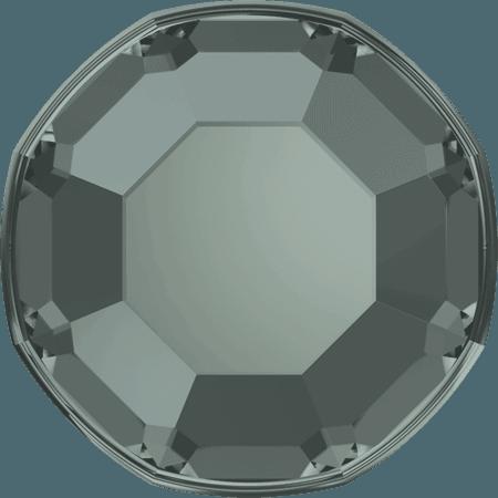 Swarovski 2000 - Rose, Hotfix, Black Diamond
