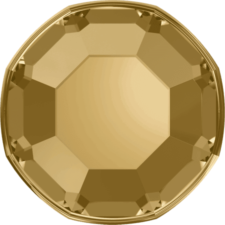Swarovski 2000 - Rose, Hotfix, Crystal Golden Shadow