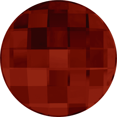 Swarovski 2035 - Chessboard Circle, Hotfix, Crystal Red Magma