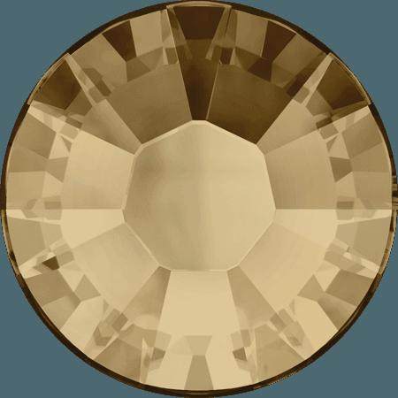 Swarovski 2038 - XILION Rose, Hotfix, Crystal Golden Shadow