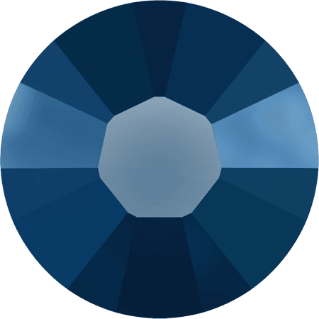 Swarovski 2038 - XILION Rose, Hotfix, Crystal Metallic Blue