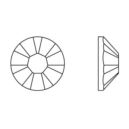 Swarovski 2038 - XILION Rose, Hotfix, Aquamarine AB