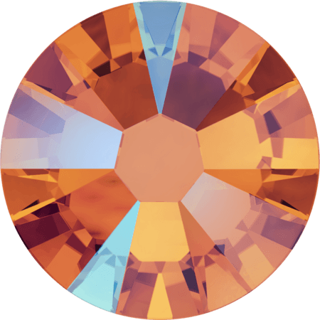 Swarovski 2058 - Xilion Rose Enhanced, Tangerine Shimmer
