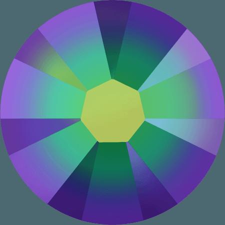 Swarovski 2058 - Xilion Rose Enhanced, Crystal Scarabaeus Green
