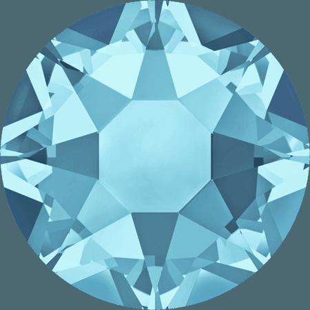 Swarovski 2078 - XIRIUS Rose, Hotfix, Aquamarine