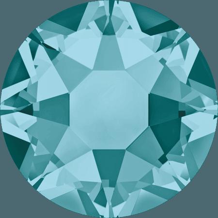 Swarovski 2078 - XIRIUS Rose, Hotfix, Blue Zircon