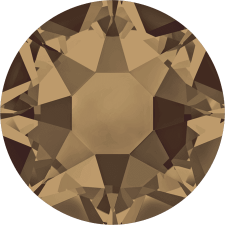Swarovski 2078 - XIRIUS Rose, Hotfix, Crystal Bronze Shade