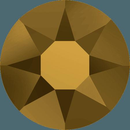 Swarovski 2078 - XIRIUS Rose, Hotfix, Crystal Dorado