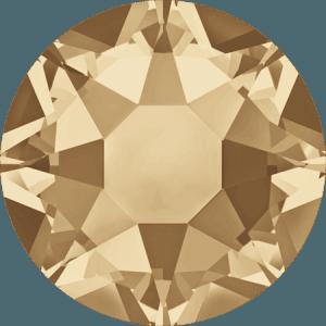 Swarovski 2078 - XIRIUS Rose, Hotfix, Crystal Golden Shadow