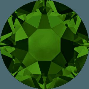 Swarovski 2078 - XIRIUS Rose, Hotfix, Dark Moss Green