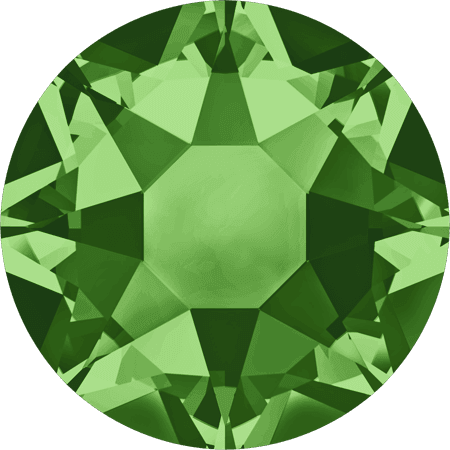 Swarovski 2078 - XIRIUS Rose, Hotfix, Fern Green